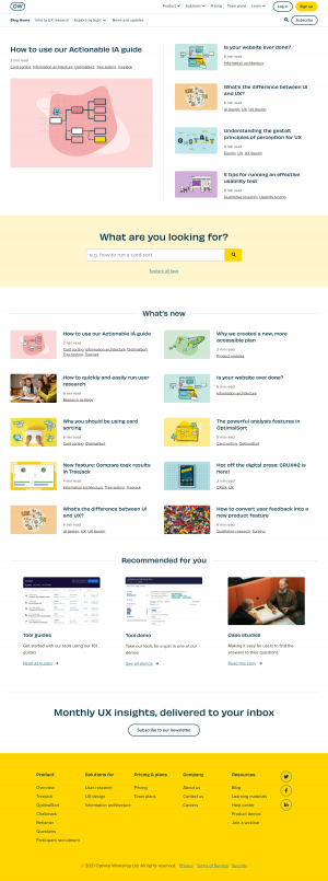 Optimal Workshop – Blog Index