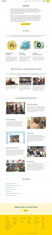 Optimal Workshop – Careers page
