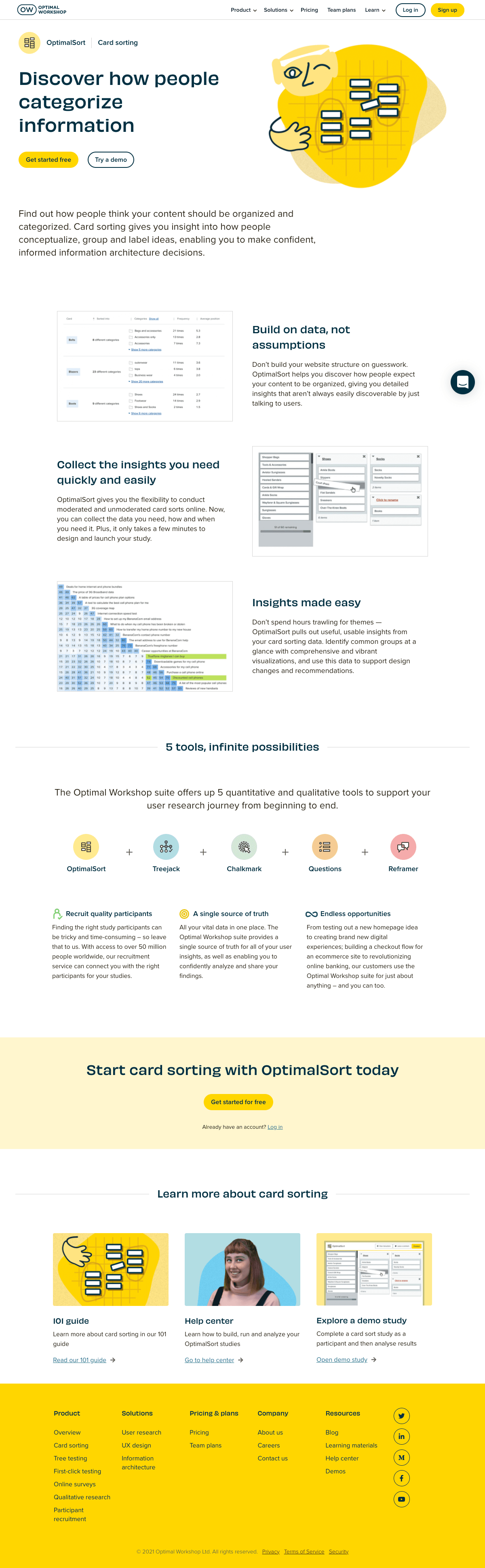 Optimal Workshop – Features page 2