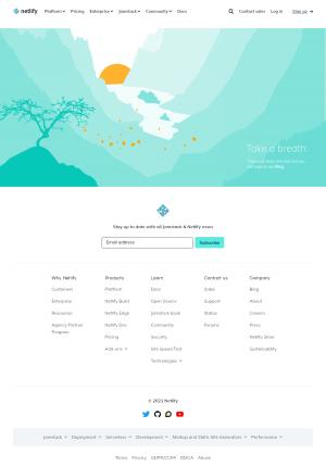 Netlify – 404 Error page