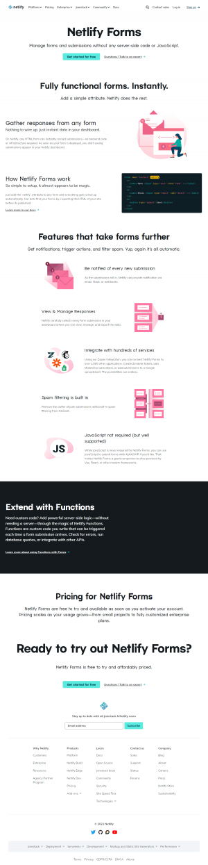 Netlify – Features page 2