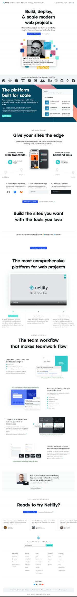 Netlify – Homepage