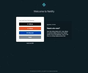 Netlify – Login page