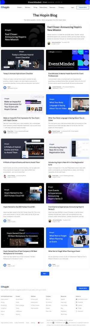 Hopin – Blog Index
