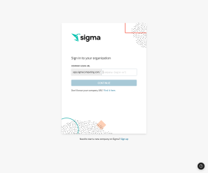 Sigma – Login page